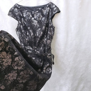 Midi Cocktail Black and Silver Tadashi Dress